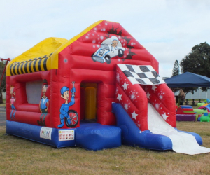 Closed Car castle with slide
